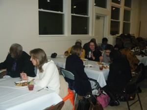 Potluck meal at Black History Celebration